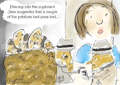 "Cartoon: ""Potatoes gone bad..."""
