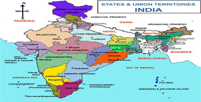 Map of india  Maps Of Cities