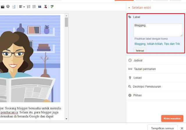 tutorial membuat postingan artikel di blog SEO
