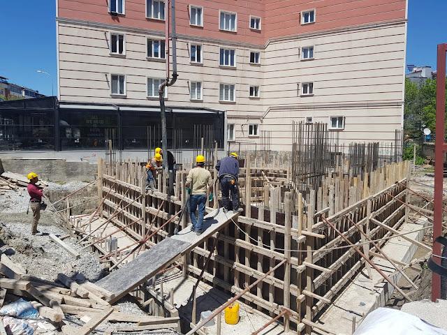perde betonu dökümü ve perde betonu kurulması