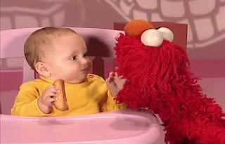 Elmo talks to a baby about teeth. Sesame Street Elmo's World Teeth Kids and Baby