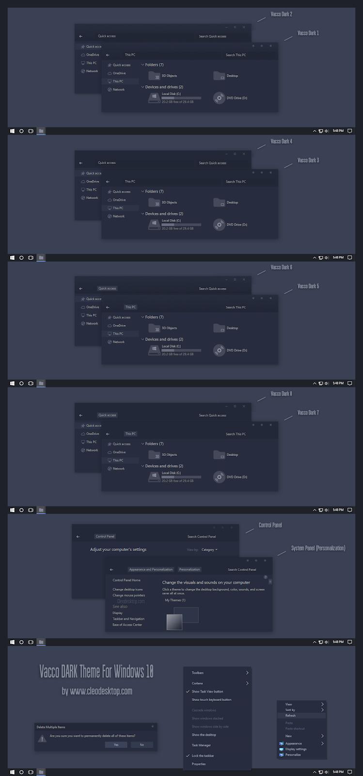Vacco Dark Theme Windows10 November 2019 Update 1909