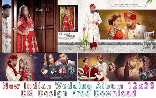 Indian Wedding Album 12x36 DM