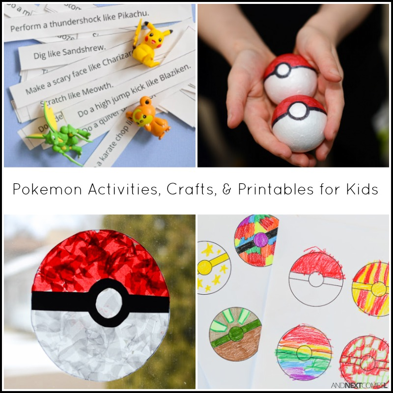 pokemon activities crafts and printables for kids from and next comes l - Free Printable Crafts For Kids