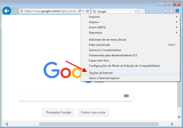 Internet Explorer - Tela principal