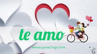 I Love you in Spanish( te amo)