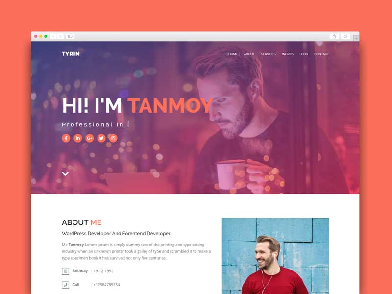 minimal portfolio blogger template