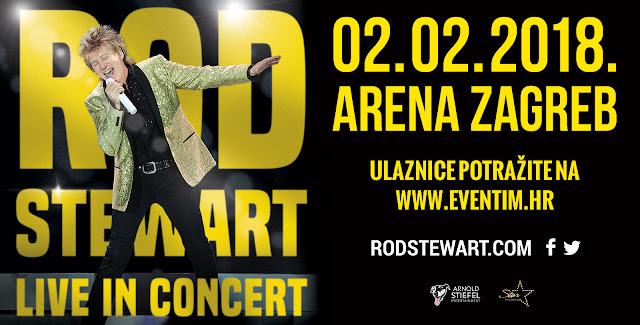 Rod Stewart u Areni Zagreb 02.02.2018 Ulaznice u sustavu Eventim