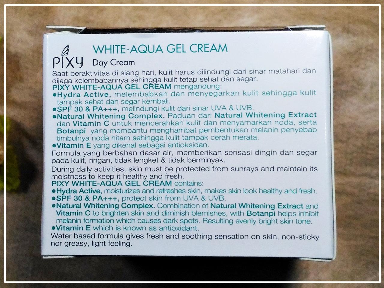 Review Pixy White Aqua Gel Cream - Day Cream ~ Pejalan Kaki