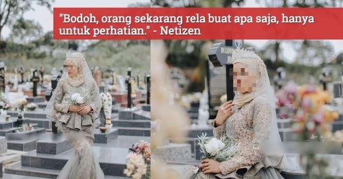 """Orang Kristian Pun Tak Buat Macam Tu,"" Gadis Buat 'Photoshoot' Di Kubur Kristian, Dikecam Netizen"
