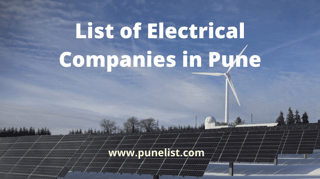 List of Electrical Companies in Pune