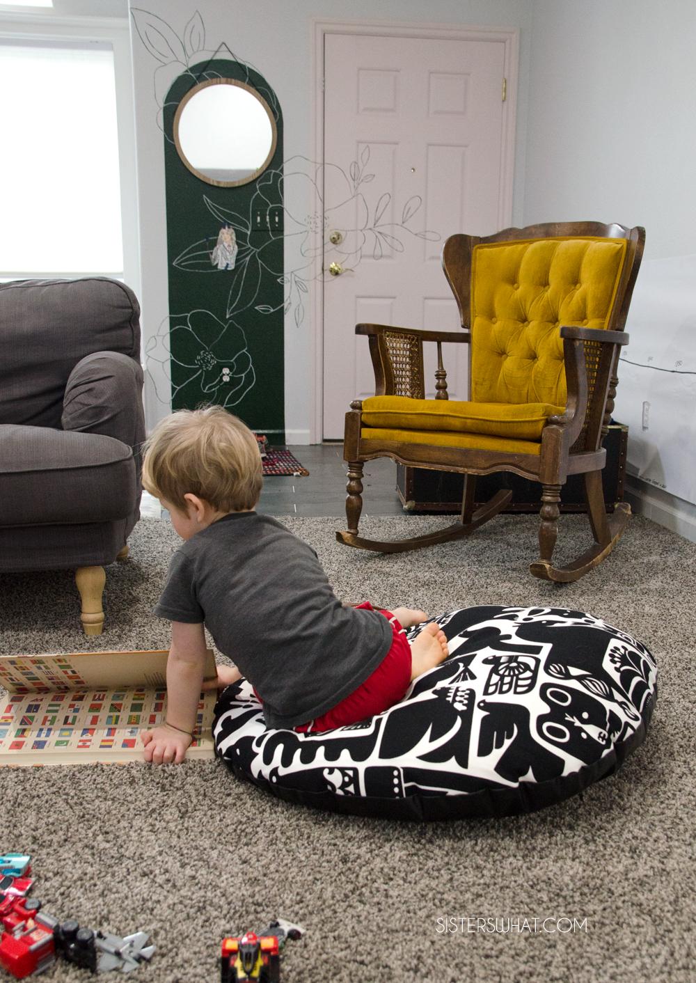 easy to sew reading floor cushion