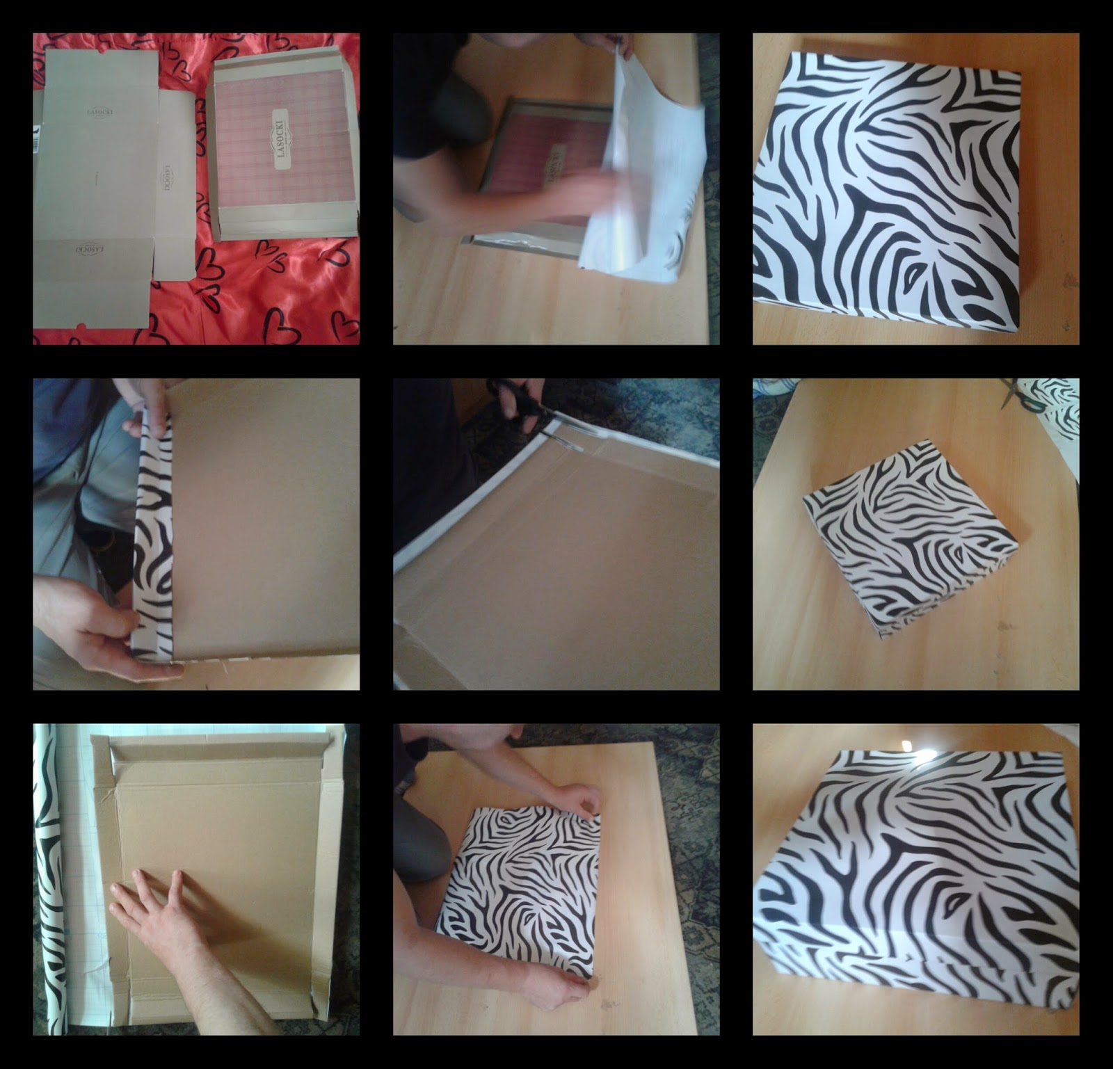 handmade pudełko papierowe diy co zrobić z pudełkiem po butach