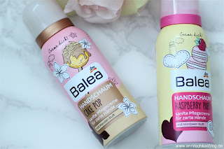 Review: 2x Balea Handschaum - Raspberry Party und Cake Pop - www.annitschkasblog.de
