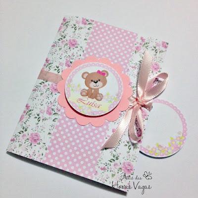 convite aniversário artesanal personalizado infantil jardim encantado floral flores rosa delicado ursinho ursinha menina festa 1 aninho bebê