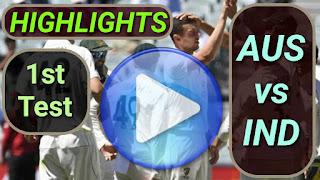 AUS vs IND 1st Test 2020