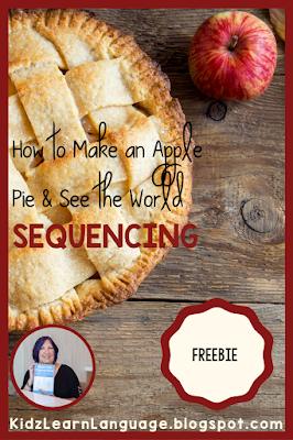 apple pie sequencing freebie