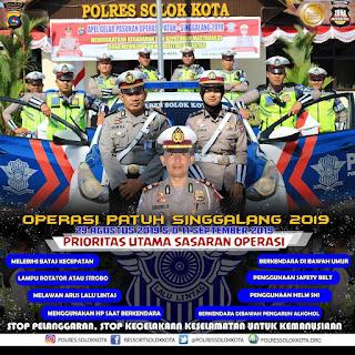 617 Kendaraan Ditilang Selama Operasi Patuh Singgalang 2019