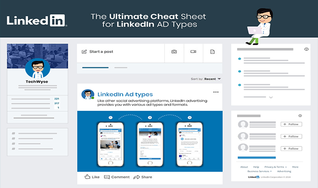 The Ultimate Cheat Sheet for LinkedIn Ad Types #infographic