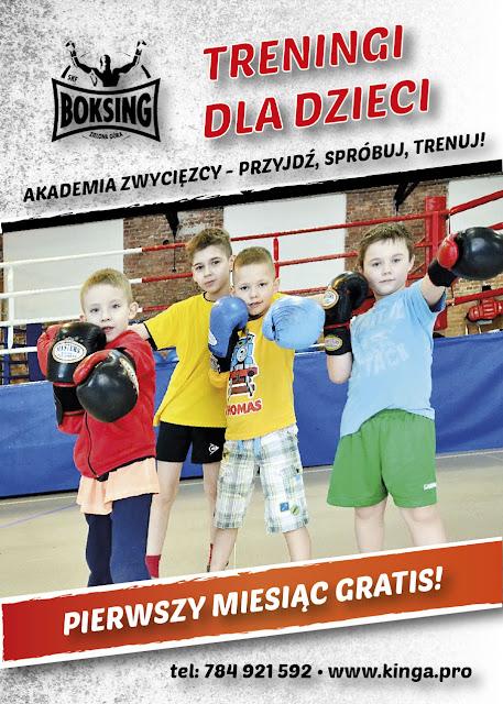 """""""AKADEMIA ZWYCIĘZCY"""" w SKF """"BOKSING"""" Zielona Góra! Treningi specjalnie dla DZIECI od 7 do 12 lat!"""