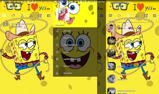 BBM Mod Apk Tema SpongeBob Base BBM v3.2.0.6 Clone Unclone Terbaru