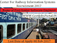 Centre for Railway Information Systems Recruitment 2017 – 54 Junior Software Engineer