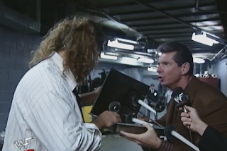 WWE / WWF Summerslam 1998 - Vince McMahon talks to Mankind backstage
