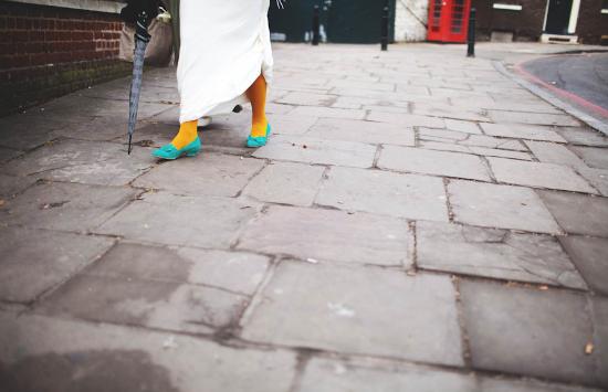 Collant da sposa gialli, yellow bridal tights