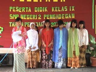 Pementasan Naskah Drama di SMP N 2 Pengadegan