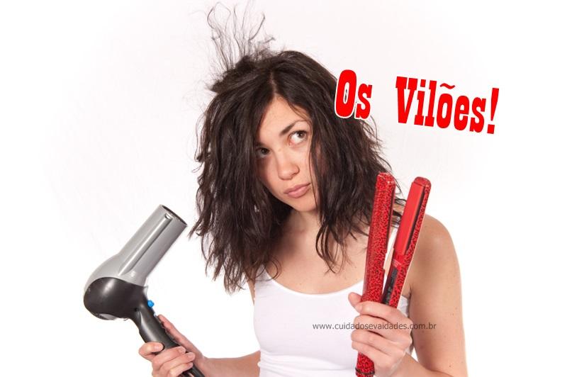 Secador e chapinha os vilões para os cabelos