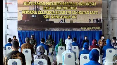 Presiden Jokowi Temui Keluarga Korban Nanggala 402169 Ini Janji Jokowi kepada Keluarga Korban KRI Nanggala-402