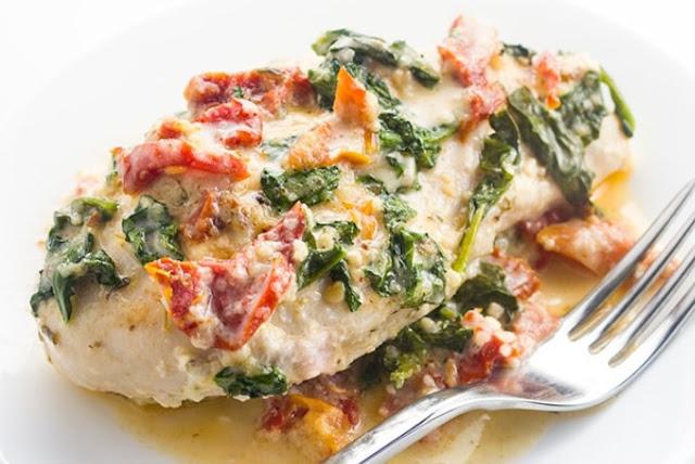 Tuscan Garlic Chicken #dinner #chicken