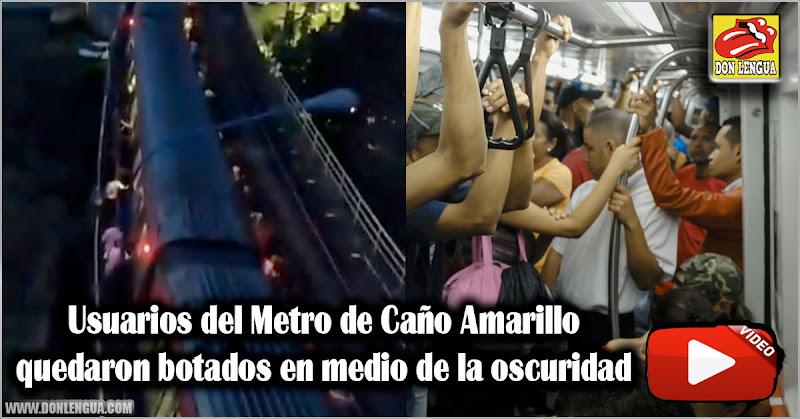 Usuarios del Metro de Caño Amarillo quedaron botados en medio de la oscuridad