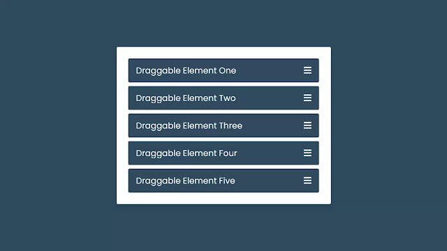 Drag & Drop List or Draggable List using HTML CSS & JavaScript