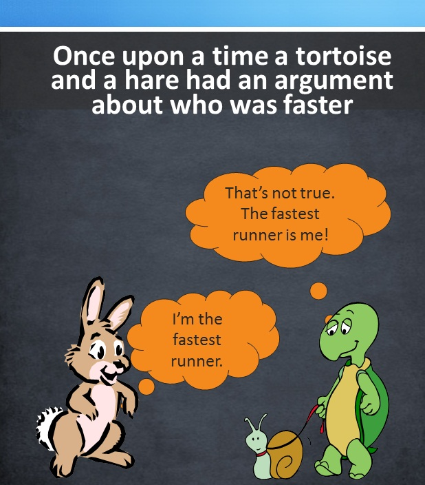 Hare Tortoise New Story Teamwork Quality Thought