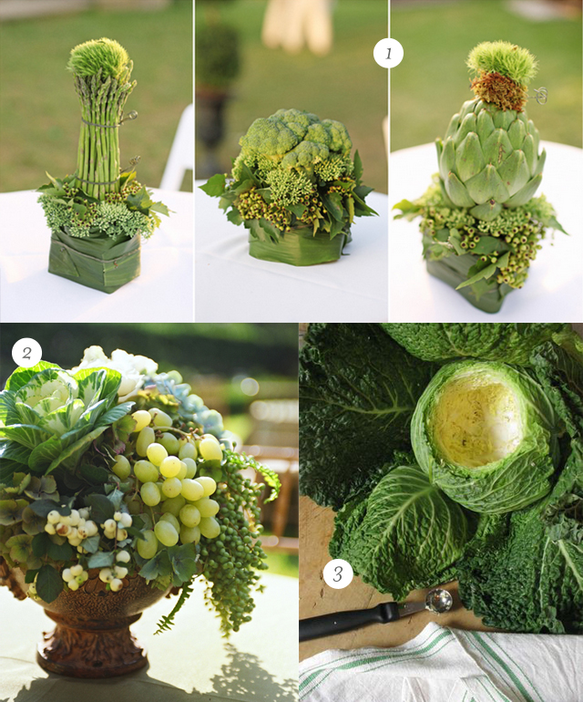 Polka Dotting My I's: Floral Arrangements With Fruits And