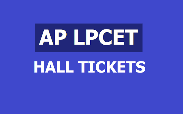 AP LPCET Hall tickets