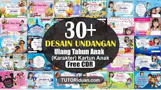 Free 30+ Desain Undangan Ultah Anak CDR