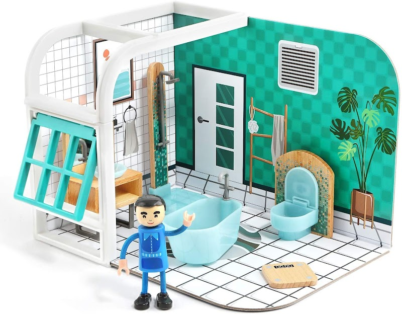 50%off Dollhouse for Toddlers Age 2-5, Boy Toy House Playsets with Little People