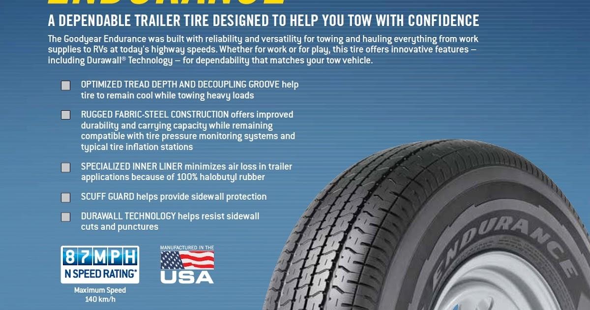 Rv Tire Safety Goodyear Endurance St Tire Info