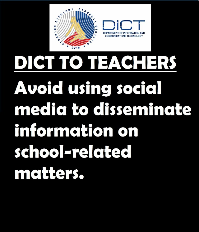 DICT urges teachers to avoid 'likes-based' school projects