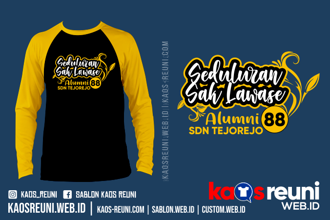 Kaos Seduluran Saklawase Alumni SDN Tejorejo - Sablon Kaos Reuni Gathering