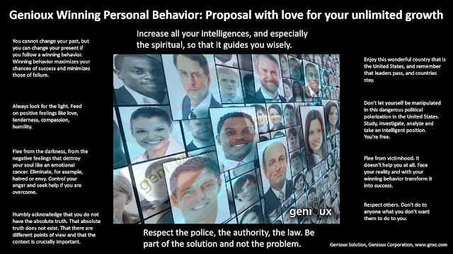 Genioux Winning Personal Behavior: Proposal with love for your unlimited growth