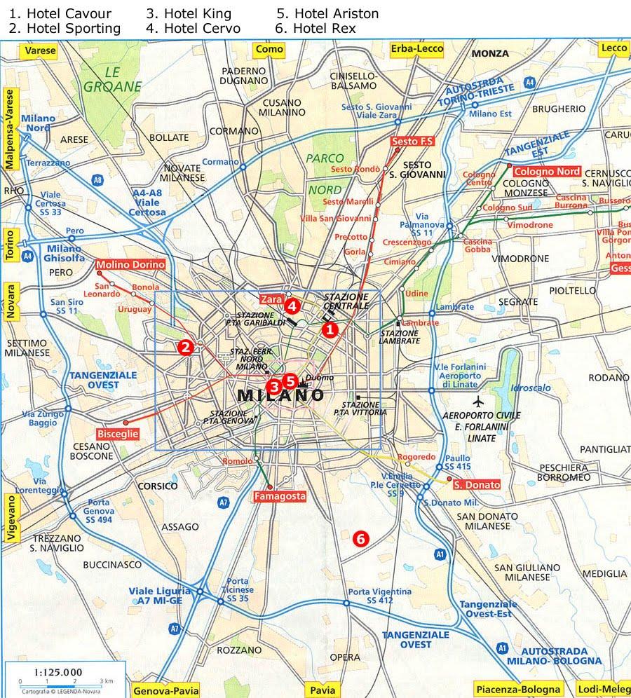 Karta Over Milano City Regionen Karta Over Sverige Geografisk