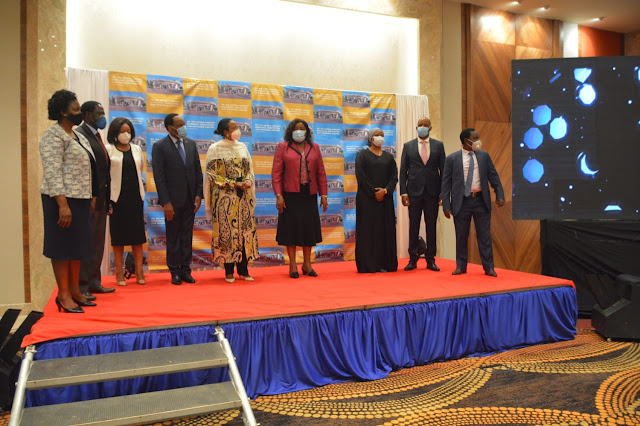 KFCB, CS Amina Mohamed, Mama Ida Odinga among others at the mobile library launch