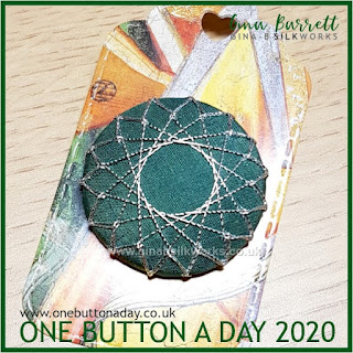 One Button a Day 2020 by Gina Barrett Day 39: Pentadecagram