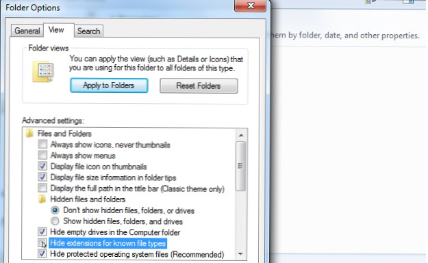 Ekstensi File Windows