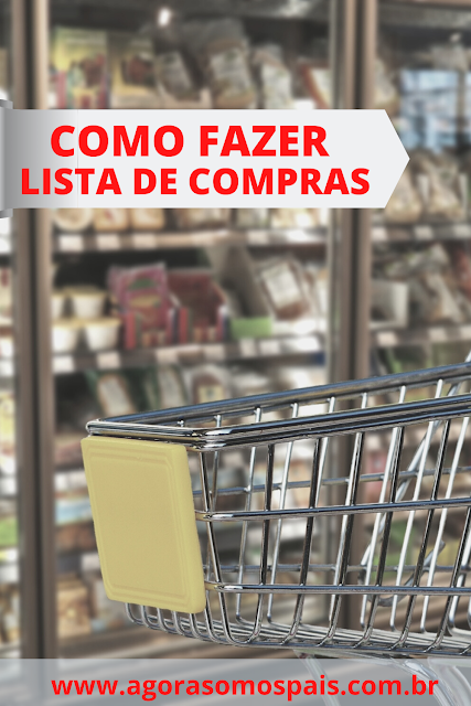 Como fazer uma lista de compras de supermercado