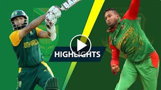 Soumya Sarkar 90 - Bangladesh vs South Africa 3rd ODI 2015 Highlights