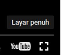 Gambar cara memperbesar tampilan video youtube